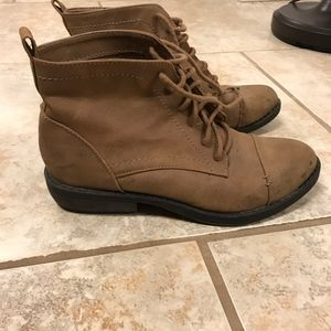 Target Sam & Libby Tan Lace Up Booties - Size 8